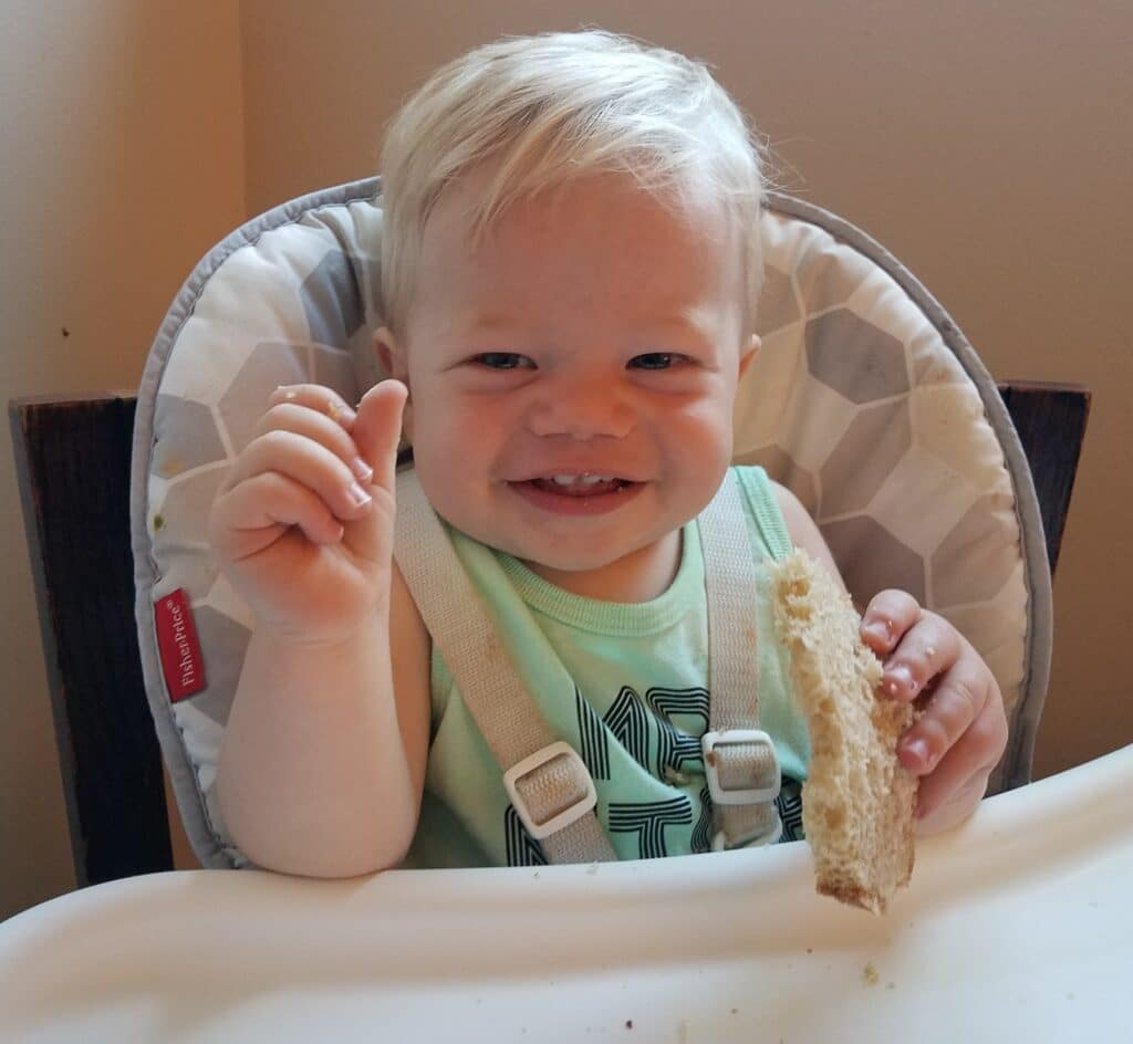 My Son Lyle Eating Sourdough and Loving It